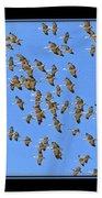 Sandhill Cranes In Mass Beach Towel