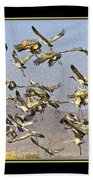 Sandhill Cranes Startled 2 Beach Towel