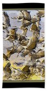 Sandhill Cranes Startled Beach Towel