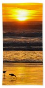 Sandpipers At Sunset Beach Towel