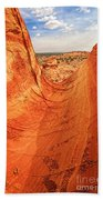 Sandstone Bowl Beach Towel by Inge Johnsson