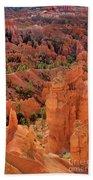 Sandstone Hoodoos At Sunrise Bryce Canyon National Park Utah Beach Towel