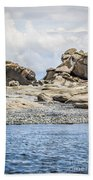 Sandstone Island Sculptures Beach Towel