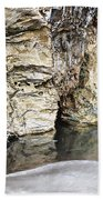 Sandstone Reflections Beach Towel by Douglas Barnard