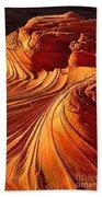 Sandstone Silhouette Beach Towel