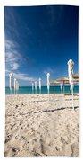 Sandy Beach Umbrellas Beach Towel