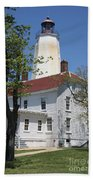 Sandy Hook Lighthouse Iv Beach Towel