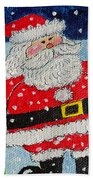 Santa And Rudolph Beach Towel
