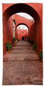 Santa Catalina Monastery In Arequipa Peru Beach Towel
