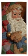 Santa Claus - Antique Ornament - 03 Beach Towel
