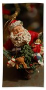 Santa Claus - Antique Ornament - 04 Beach Towel