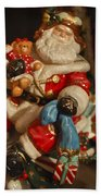 Santa Claus - Antique Ornament -05 Beach Towel