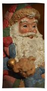 Santa Claus - Antique Ornament - 09 Beach Towel by Jill Reger