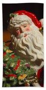 Santa Claus - Antique Ornament - 10 Beach Towel by Jill Reger