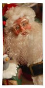 Santa Claus - Antique Ornament - 11 Beach Towel by Jill Reger