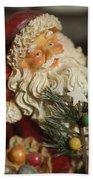 Santa Claus - Antique Ornament - 18 Beach Towel by Jill Reger