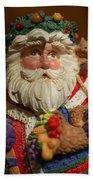Santa Claus - Antique Ornament - 20 Beach Towel by Jill Reger