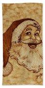 Santa Claus Joyful Face Beach Towel