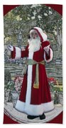 Santa Claus Walt Disney World Oval Beach Towel