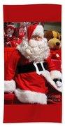 Santa Is Ready Beach Towel