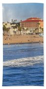 Santa Monica Beach View  Beach Towel