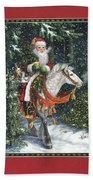Santa Of The Northern Forest Beach Towel