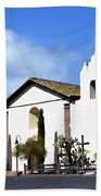 Santa Ynez Mission Solvang California Beach Towel