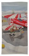 Santa's Airport Beach Towel