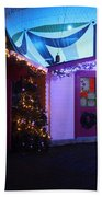 Santa's Grotto In The Winter Gardens Bournemouth Beach Towel