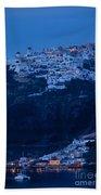 Santorini Greece Beach Towel