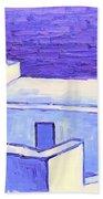 Santorini Houses Beach Towel