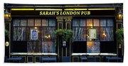 Sarah's London Pub Beach Towel