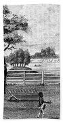 Saratoga, New York, 1794 Beach Towel