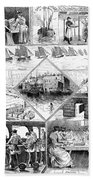 Sardine Fishery, 1880 Beach Towel