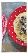 Sardines And Spaghetti Beach Towel