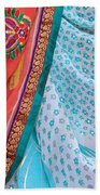 Saree In The Market Beach Towel