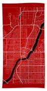 Saskatoon Street Map - Saskatoon Canada Road Map Art On Color Beach Towel