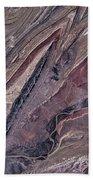 Satellite View Of Big Horn, Wyoming, Usa Beach Towel