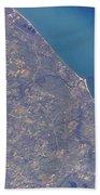Satellite View Of St. Joseph Area Beach Towel by Stocktrek Images