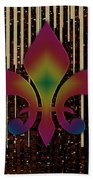 Satin Lily Symbol Digital Painting Beach Towel