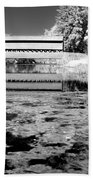 Saucks Bridge - Pond - Bw Beach Towel