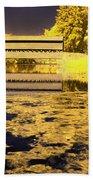 Saucks Bridge - Pond Beach Towel