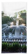 Savannah Georgia Forsyth Park Fountain Beach Towel