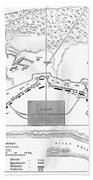 Savannah Siege Map, 1779 Beach Towel
