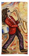 Sax Man Beach Towel