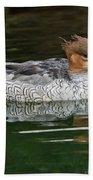 Scaly-sided Merganser Female Beach Towel