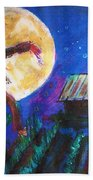Scarecrow Dancing With The Moon Beach Towel