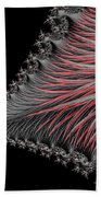 Scarlet And Gray Beach Towel
