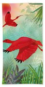 Scarlet Corocoro - Limited Edition 1 Of 20 Beach Towel