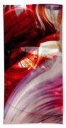 Scarlet Swirls Abstract Beach Towel